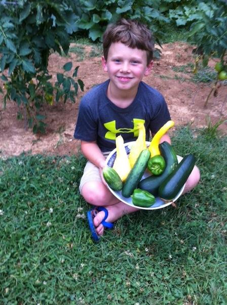 Jayden with Garden Bounty