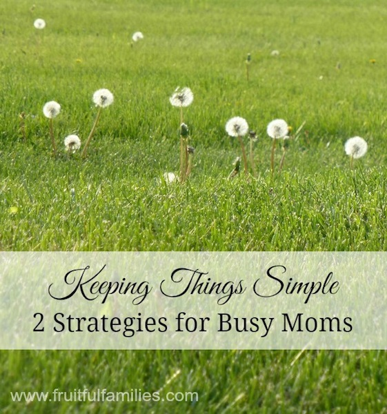 Keeping Things Simple 2 Strategies for Busy Moms