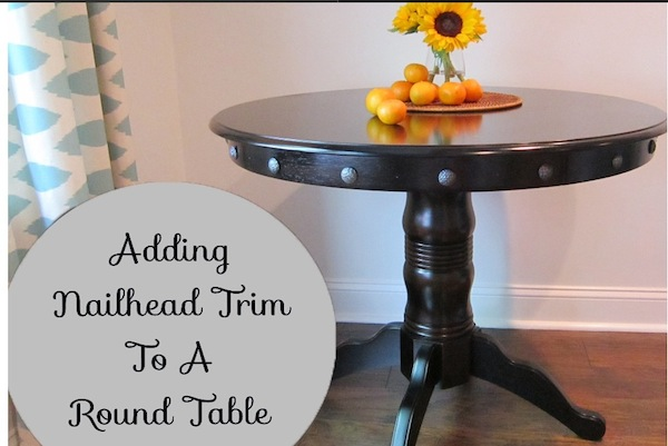 Adding Nailhead Trim To A Round Table