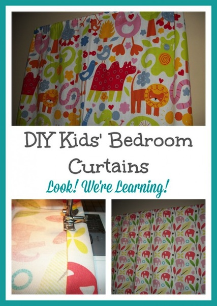 DIY Bedroom Curtains for Kids' Room