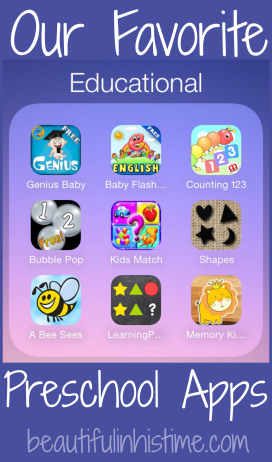 Our Favorite Preschool Apps