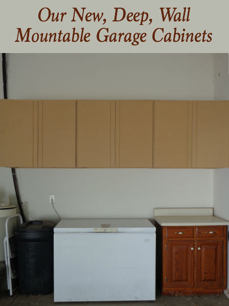 I'm excited to share our new deep, wall mountable garage cabinets with you! Stop by for more details!