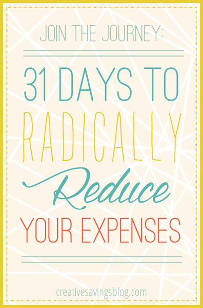 31 Days To Radically Reduce Your Expenses