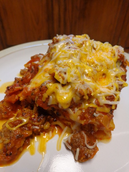 plated lasagna roll-up