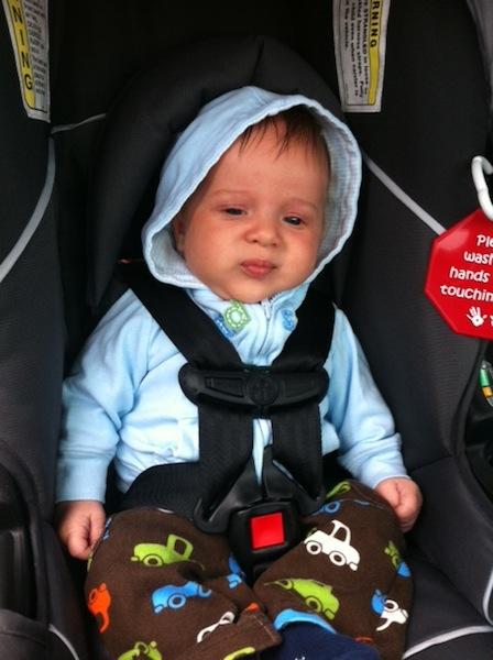 Dalton in car seat