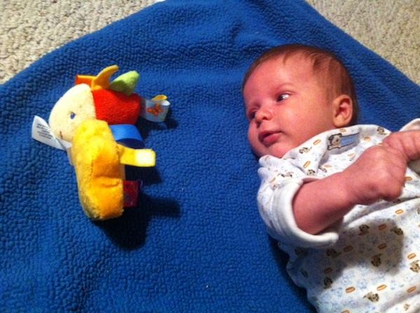 Dalton with toys