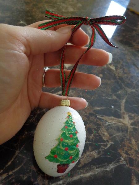 diy egg ornament