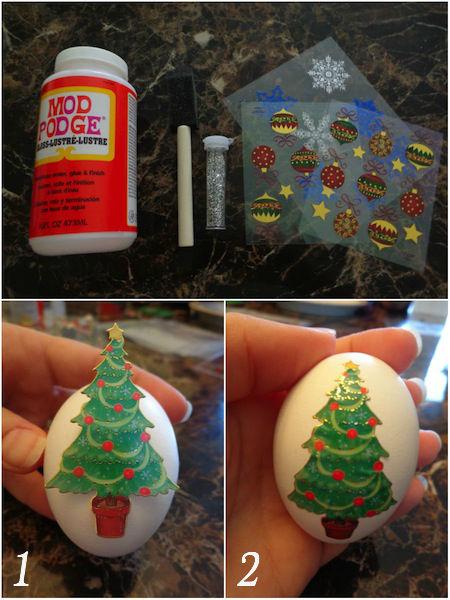 diy egg ornament collage