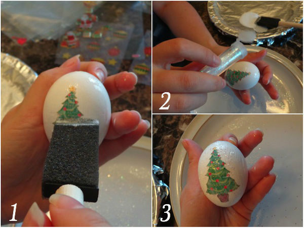 diy egg ornament collage