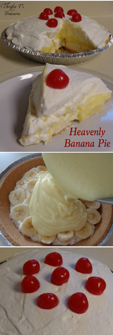 This Heavenly Banana Pie is absolutely fabulous! I love easy desserts and this is definitely one of those recipes!
