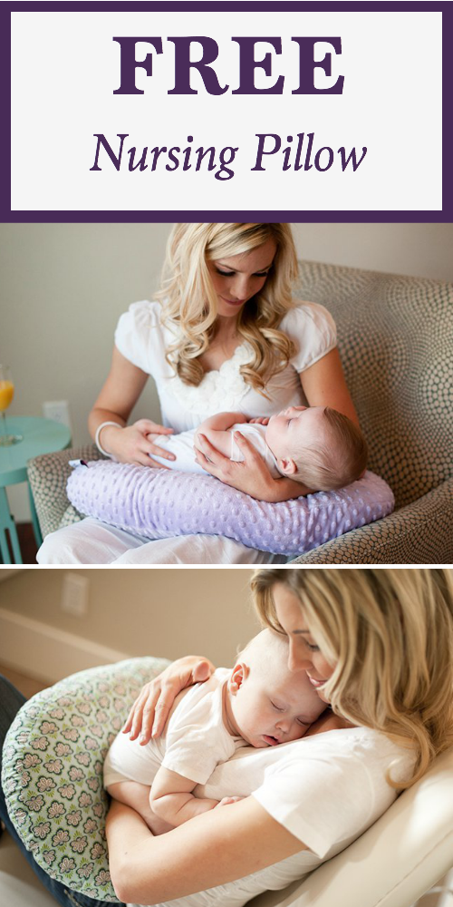 Snag a free nursing pillow! Plus, check out the other freebies for new and expectant moms.