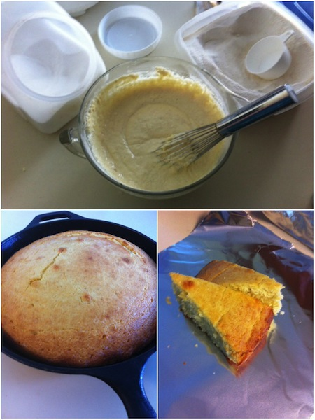 cooking session - cornbread