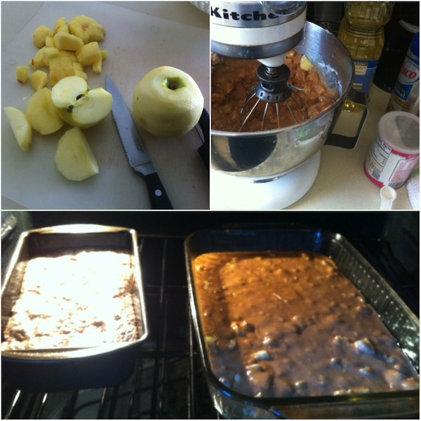 cooking sesson - apple brownies