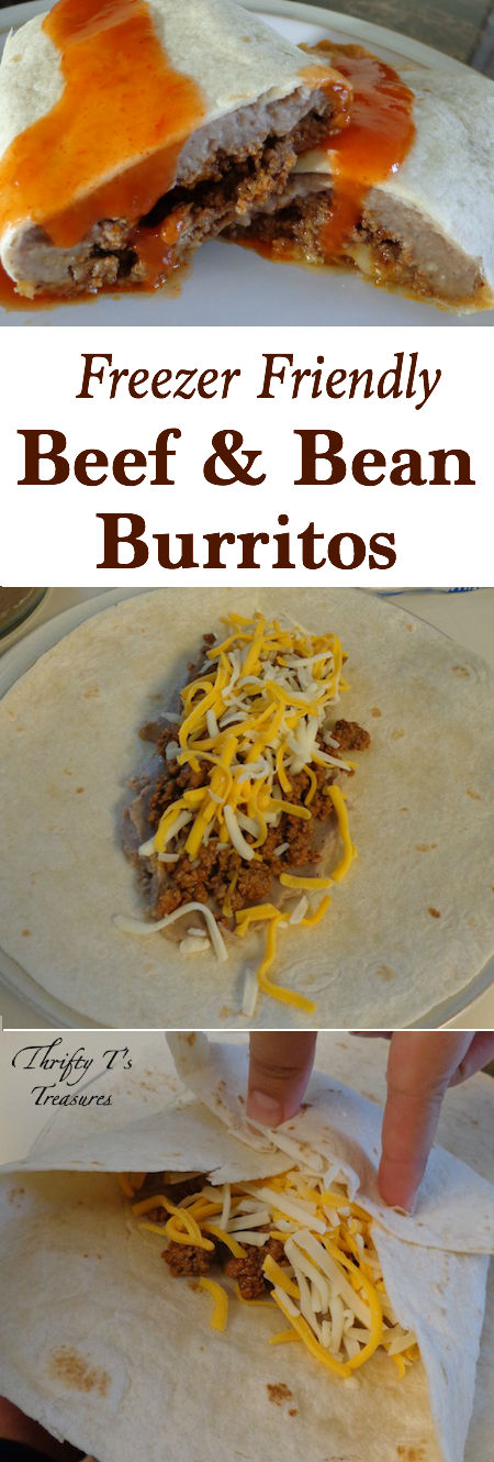 These Freezer Friendly Beef and Bean Burritos need to make their way onto your easy dinner recipes and freezer meals menu. It can't get much easier than this folks!