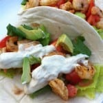 Grilled Shrimp Tacos with Chipotle Lime Dressing
