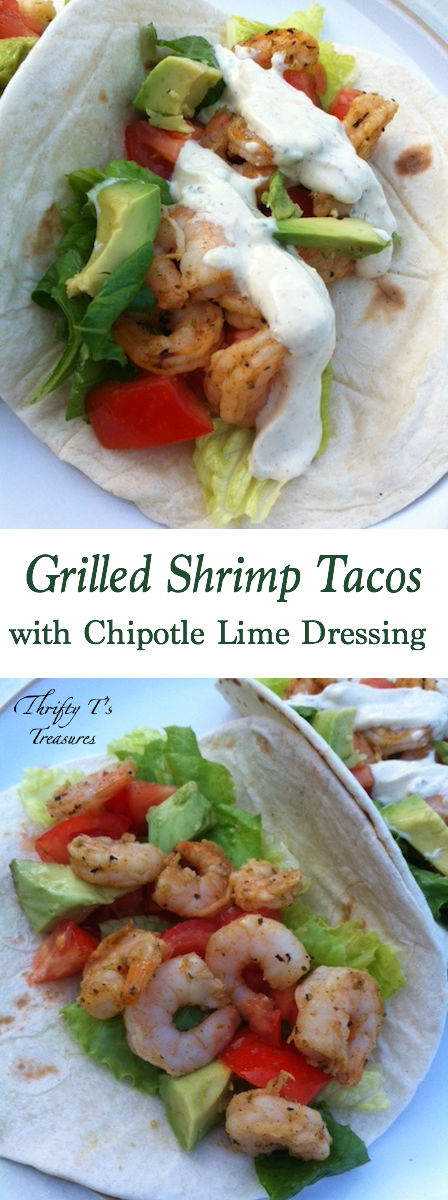 Grilled Shrimp Tacos with Chipotle Lime Dressing make for an easy dinner and are one of our favorite grilling recipes. You'll fall in love at first bite.