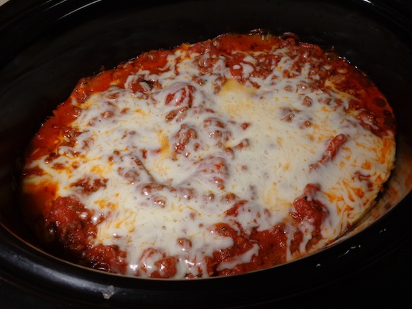 manicotti cooking in crockpot