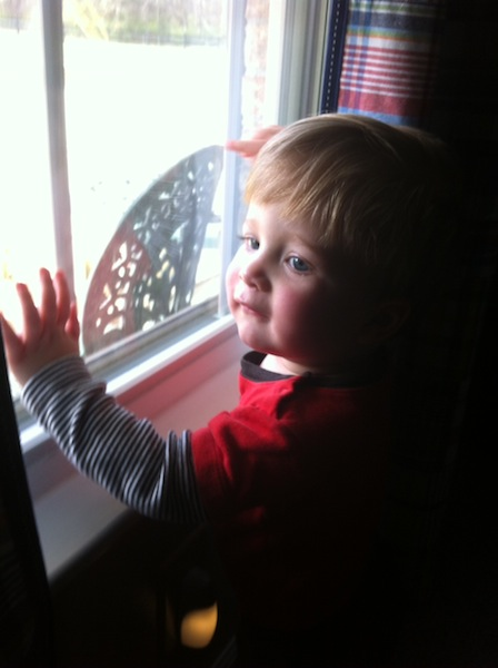 Dalton looking out window