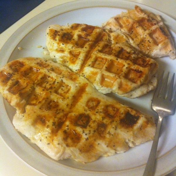 chicken in waffle maker