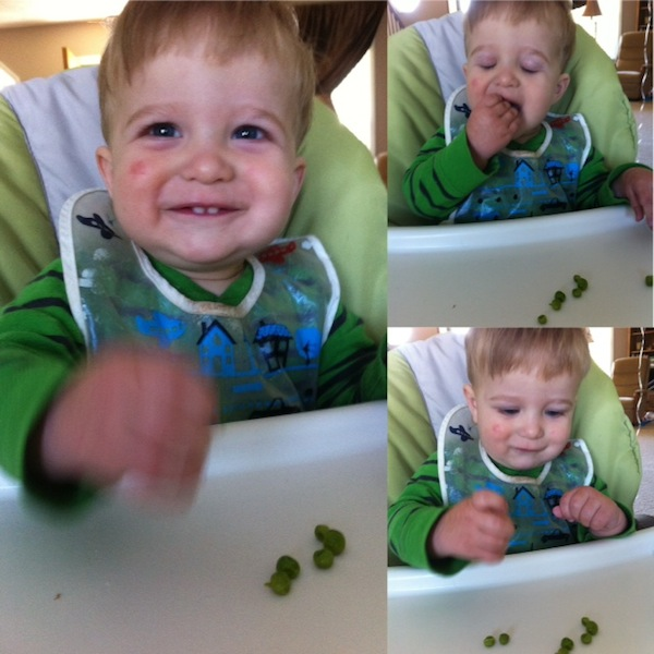 dalton eating peas