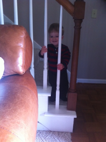 dalton on stairs