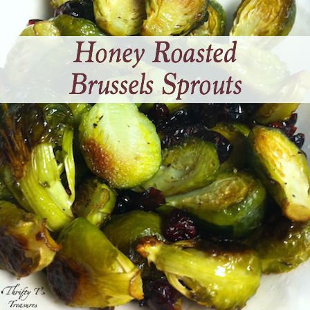 I'm betting that you'll fall in love with this Honey Roasted Brussels Sprouts recipe at first bite. Whether you're looking for vegetarian recipes or easy dinner recipes, this one's a must!