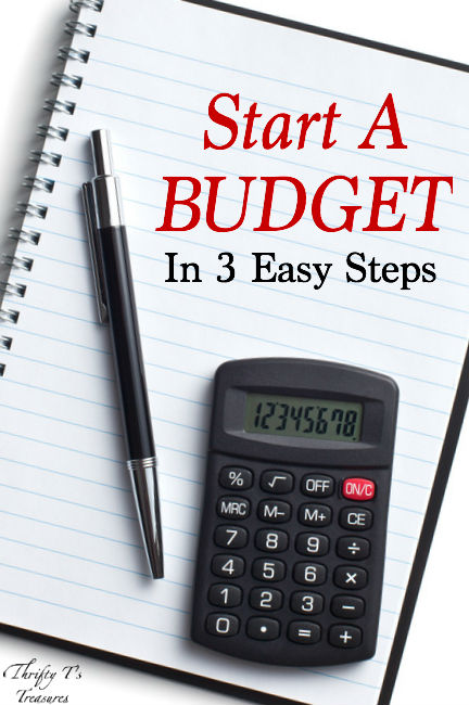 Start A Budget In 3 Easy steps