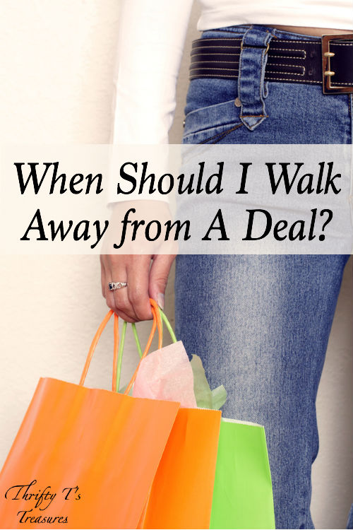 There are always fabulous deals and steals to snag, but I'm learning that one of the best ways to save money is to know when to walk away from good deals. Keep your money and finances in order by checking out my tips!