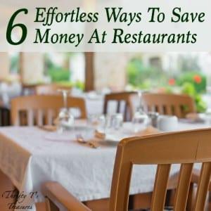 Save Money At Restaurants Featured