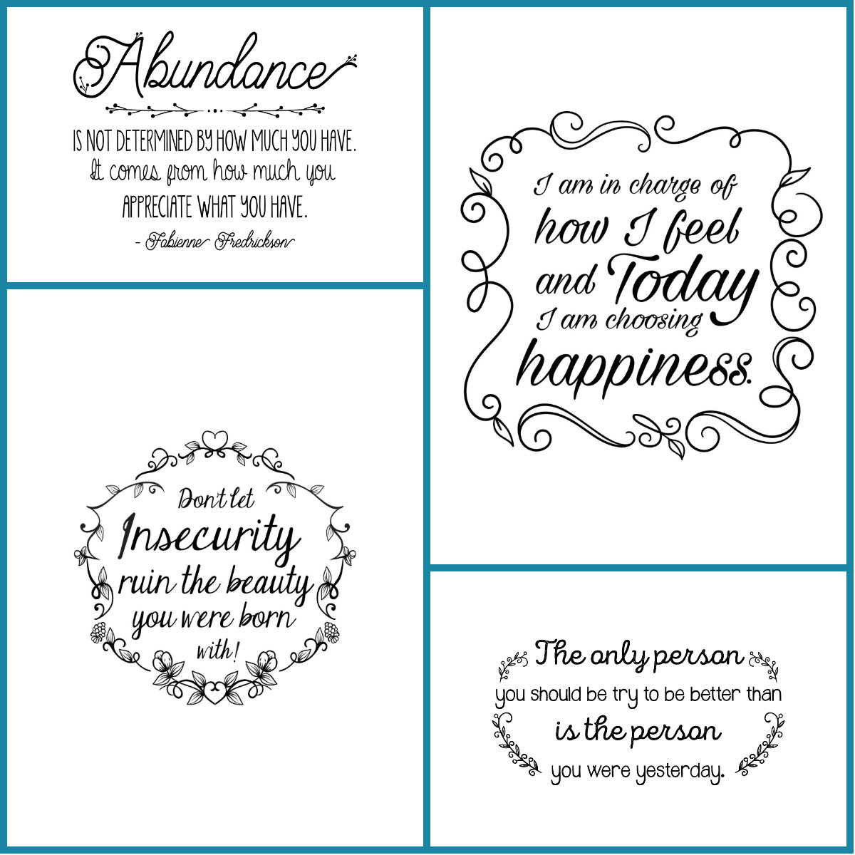 Even through the ups and downs of life I'm learning that abundance is possible in this life. I hope these inspirational quotes will give you a bit of daily motivation! Stop by and snag these 4 free pieces of abundant living,printable wall art.