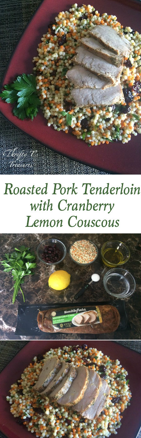Not sure which one of your recipes to make for dinner tonight? This Roasted Pork Tenderloin with Cranberry Lemon Couscous is the perfect solution because it's quick, easy AND healthy! It's one of those 30 minute meals that families like yours ask for again and again.