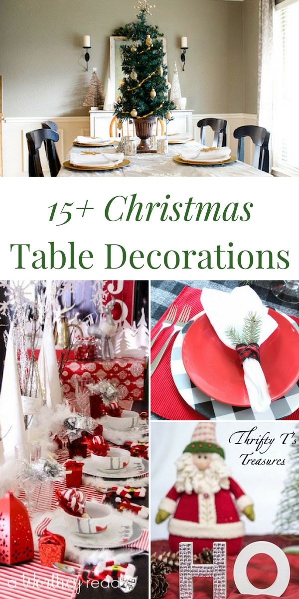 You've decorated the tree and mantle in your house (or apartment) and now it's time to dress up your dining room table for the holidays. From rustic or elegant, traditional or modern, to simple, easy and cheap, you're sure to find what you're looking for in this fun list of Christmas table decorations! There's even a few easy DIY ideas for the kids to make....not to mention a few fabulous centerpieces to inspire you. Come see for yourself.