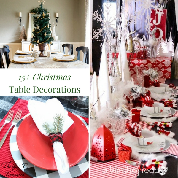 You've decorated the tree and mantle in your house (or apartment) and now it's time to dress up your dining room table for the holidays. From rustic or elegant, traditional or modern, to simple, easy and cheap, you're sure to find what you're looking for in this fun list of Christmas table decorations! There's even a few easy DIY ideas for the kids to make....not to mention a few fabulous centerpieces to inspire you. Come see for yourself