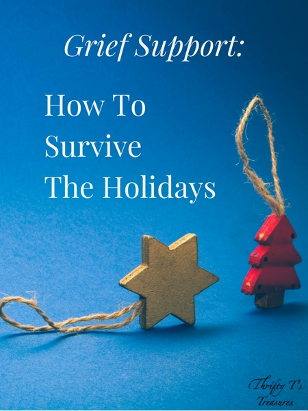 I'll be the first to admit that dealing with grief during the holidays is difficult. Whether you've lost a spouse, father, mother or sibling, may my encouragement and thoughts give you the strength you need to face the holidays.