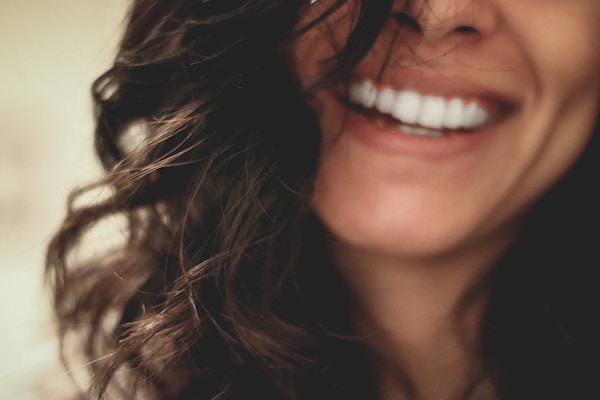close up of a happy woman smiling