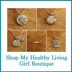 five pendant necklaces with wording - shop my healthy living girl boutique