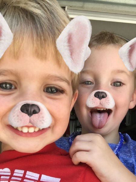 dalton and kade with face filers