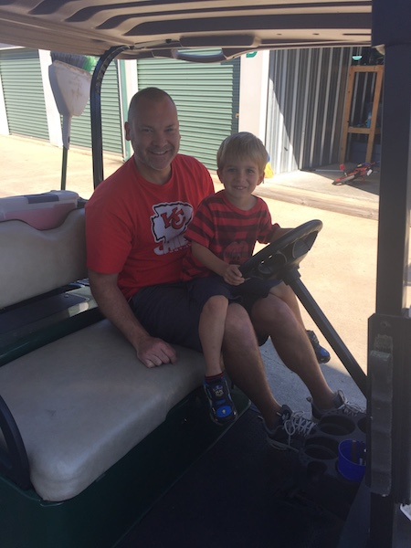 Doug and Dalton on golf cart