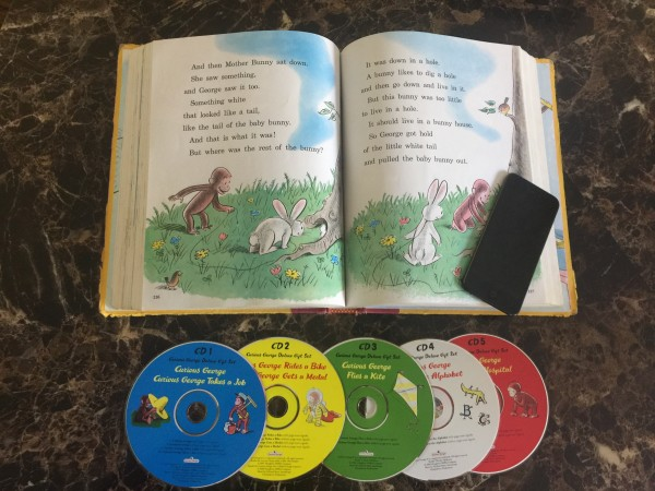 curious George read along book with cds and iPod