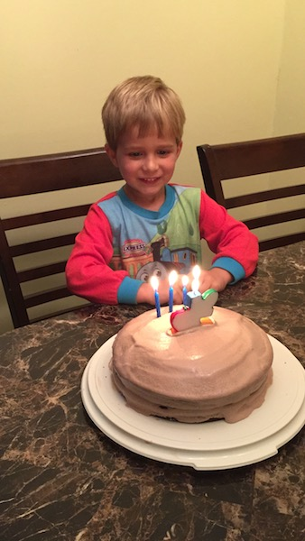 Dalton with birthday cake