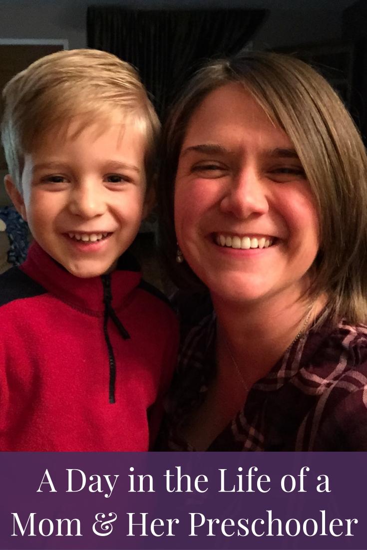 mom and preschool boy
