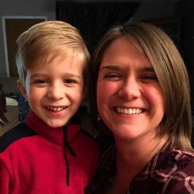 mom and preschool aged boy