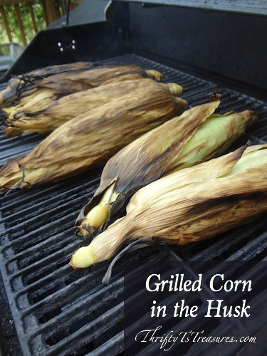 grilled corn in the husk