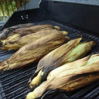 If your grill is already fired up and ready to cook your meat, why not throw your corn on there too for an easy side dish?! I want to show you how to cook corn on the cob on the grill in the husk. It's super simple and you won't have to worry with a big 'ole pot of boiling water.