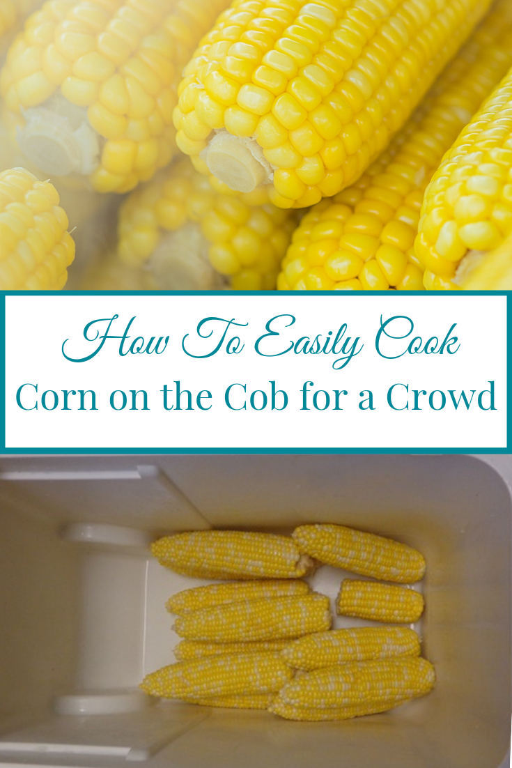 If the thought of making corn on the cob for a crowd is overwhelming you've come to the right place. Let me help you take the stress out of cooking with this super easy solution. Follow along and as I show you how to cook corn on the cob in a cooler. Yes, that's exactly right - a cooler!