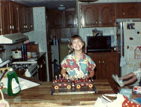 tshanina with birthday cake