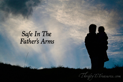 No matter what trials we face or who may hurt us, we will always be safe in the Father's arms! Much like I did, won't you take refuge in his arms?