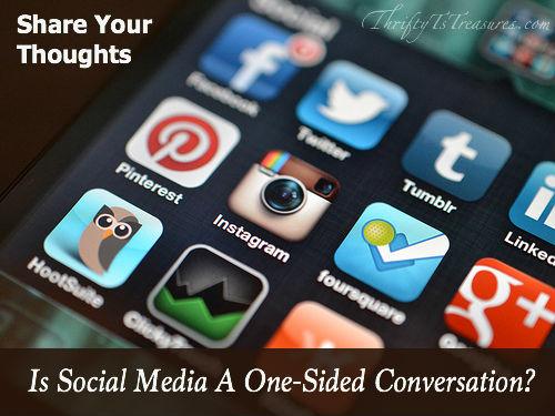 social media one sided conversation
