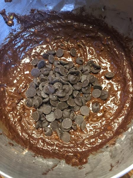 chocolate chip zucchini bread dough