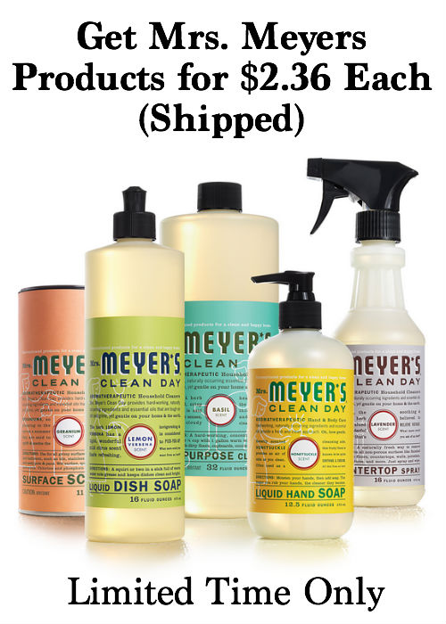 Stop by and learn how YOU can get 9 Mrs. Meyers products for only $2.36 each, shipped! Plus, share the deal and earn $10 credit!